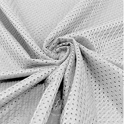 """Pico Textiles Silver Football Mesh Jersey Fabric - 60"""" Wide - Style 734722"""