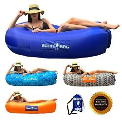 WSXUS Inflatable Lounger Air Sofa Portable Hammock Waterproof Air Lounger Sofa Carrying Bag Travelling Camping Hiking Park Pool Beach Parties
