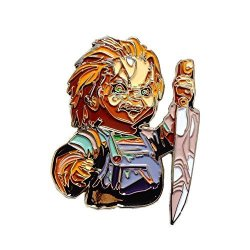 Shatter Labels Cult Of Chucky Doll Collectible Killer Horror Alternative Art Movie Pin