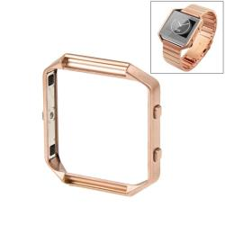 For Fitbit Blaze Watch Stainless Steel Frame Holder Shell Rose Gold