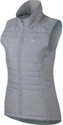 Nike Women's Essential Full Zip Running Vest Wolf Grey XL