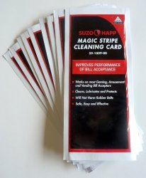 Suzo-Happ Group Dollar Bill Validator Acceptor Pre-saturated Cleaning Card 50 PK