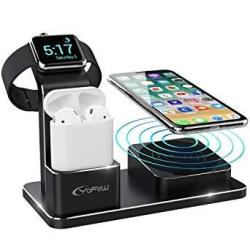 YoFeW Charging Stand Apple Watch Aluminum Watch Charger Stand Charging Station Dock Compatible Apple Watch Series 4 3 2 1 Airpo