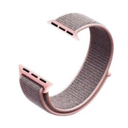 Pink Sand 42MM Soft Nylon Band With Hook And Loop Fastener For Apple Watch