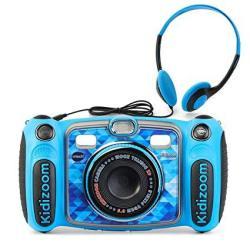 Vtech Kidizoom Duo 5.0 Deluxe Digital Selfie Camera With MP3 Player & Headphones Blue