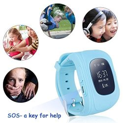 Changsha Hangang Technology Ltd Hangang Kids Gps Tracker Smartwatch Sos Call Locator Anti-lost Finder Wristwatch Tracker For Children Far Away From Danger Blue
