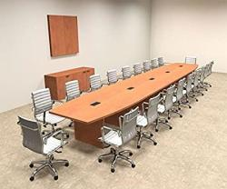 Modern Boat Shaped 24' Feet Conference Table OF-CON-C91