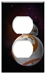 Switch Plate Outlet Cover - BB8-DROID Droid Robot Model Toys Cosmos Space