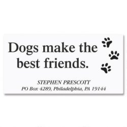 Colorful Images Dog's Life Pawprint Return Address Labels - Set Of 144 1-1 8 X 2-1 4 Self-adhesive Flat-sheet Animal Labels