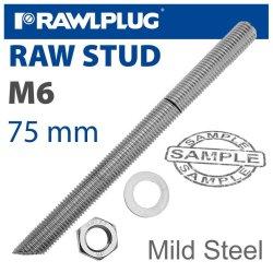 RawlPlug Mild Steel Stud M6-75MM