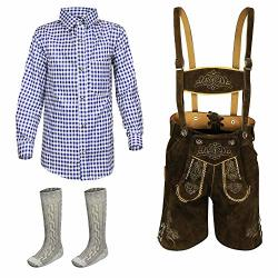 Kiddy Tracht Kids Bavarian Trachten 3 Piece Set Brown 128 US 8