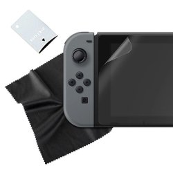 SPARKFOX Tempered Glass Screen Protector & Cloth - Switch