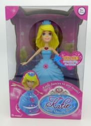Dragon-i Toys Katie Magical Dancing Princess Doll in Blonde Hair & Pink Dress