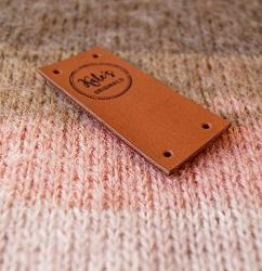 Knitting Labels Folding Leather Labels Center Fold Tags Custom Clothing Labels Logo Branding Tags Leather Crochet Labels Set Of 25 PC
