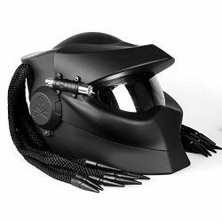 Modular Flip-up Motorcycle Helmet Full Face Predator Helmet Anti-fog Lens Four Season Men And Women Helmet With LED Lights Dot Safety Certified