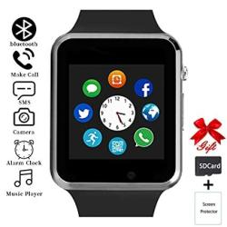 Smart Watch Unlocked Smartwatch Compatible With Bluetooth android ios Partial Functions Touchscreen Call Text Camera Music Player Notification Sync