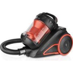"Taurus Vacuum Cleaner Cyclone Plastic Orange Bagless 800W ""pulsar Eco Turbo"