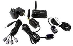 Wireless Ir Repeater Kit remote Control Extender Quard Head Emitter