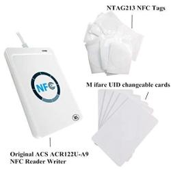 ACR122 Nfc Rfid Reader Writer Rewritable Uid Changeable Card Zero 0 Block Secctor Copier S50 M1 Card +5PCS NTAG213 Nfc Tag + 5PCS Uid