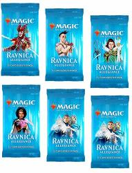 6 Six Booster Packs Of Magic: The Gathering: Ravnica Allegiance 6 Pack - Rna Booster Draft Lot