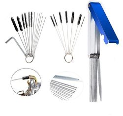 PODOY Carburetor Cleaning Kit 13 Wires Jet Cleaning Needles Wire Brush Carb  Dirt Jet Cleaner Tool With 10 Cleaning Needles 5 Bru | R | Garden