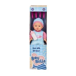 33CM Doll With Stroller Set Assorted