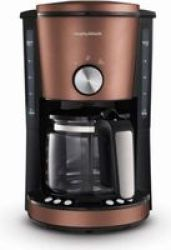 Morphy Richards Evoke 1000W Drip Filter Digital Coffee Maker 1.2LBRONZE