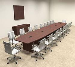Modern Boat Shaped 22' Feet Conference Table OF-CON-C87