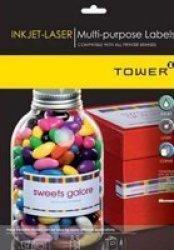 Tower W102 Multi Purpose Inkjet-laser Labels - Box Of 100 Sheets