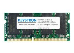 Keystron, LLC 512MB PC133 144PIN Sdram Sodimm Printer Memory For Brother MFC-8460N MFC-8480N MFC-8480DN MFC8460N