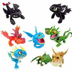 8PCS 2PCS 1PCS How To Train Your Dragon 2 Toys Action Figures Night Fury Toothless Pvc Dragon Children Brinquedos Toys For Kids 8PC