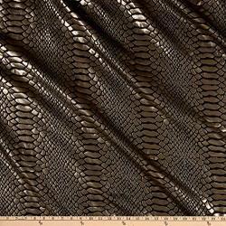 Ben Textiles Inc. Snake Brocade Black gold Fabric