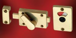 Union Bathroom Indicator Bolt Brass