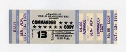 USA Commander Cody 1976 Oct 14 Armadillo World Headquaters Austin Tx Unused Ticket