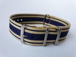 22MM Nato Watch Strap Beige navy
