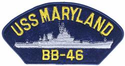 """Uss Maryland 6"""" Embroidered Patch Ppmussmarlndk"""
