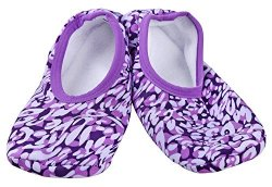 Snoozies Skinnies Modern Animals Print Collection Small 5 6 Wild Leopard Violet