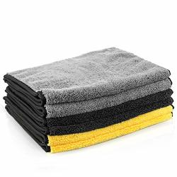 """Matcc Microfiber Cleaning Cloths 6 Pack 16"""" X 32"""" Microfiber Towels For Cars Ultra-thick Super Absorbent Car Microfiber Towel For Washing Polishing Waxing And"""
