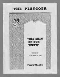 """Tallulah Bankhead""""the Skin Of Our Teeth"""" Montgomery Clift frederic March florence Reed 1942 Baltimore Tryout Playbill"""