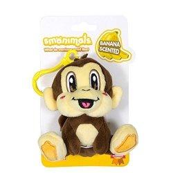 "Scentco Inc. Scentco Smanimal Backpack Buddies Monkey - Banana Scented 4"" Plush Keychain Clips"