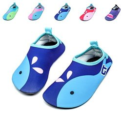 Giotto Kids Swim Water Shoes Quick Dry Non-slip For Boys & Girls Blue 22-23