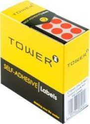 Tower Colour Code Label Sheets Pack Of 715FLUORESCENT Red