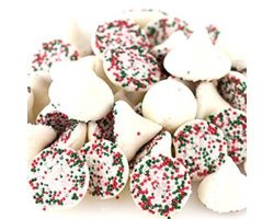 Guittard Sweetgourmet White Large Christmas Smooth-n-melty Mints 1.5LB