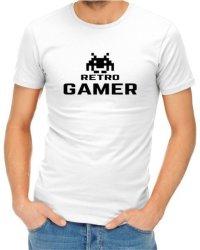 Retro Gamer Mens White T-Shirt Medium