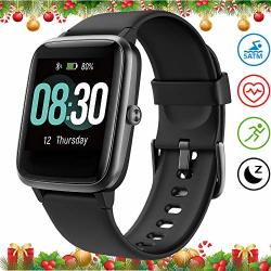 Umidigi Smart Watch Fitness Tracker UWATCH3 Smart Watch For Android Phone Activity Tracker With Heart Rate Monitor 5ATM Waterproof Smartwatch Iphone Compatible For Kids