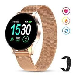 Gokoo Smart Watch For Women Men With All-day Heart Rate Blood Pressure Sleep Monitor IP67 Waterproof Sport Activity Tracker Notifications Music Camera