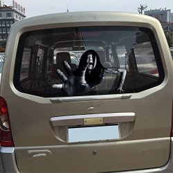 Shenzhen Honest Anan Trading Company Ltd 23X13.7 Inch Car Stickers Noctilucent Scary High Beam Headlights On Full Beam Horrible Prank Female Ghost To Climb Over You ZM-11
