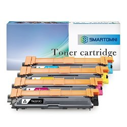 S Smartomni Compatible Toner Cartridge Replacement For BrOther TN221 TN225 Kcmy 4-PACK Compatible Use With BrOther HL-3140CW HL-3170CDW HL-3180 MFC-9130CW MFC-9330CDW MFC-9340CDW DCP-9020