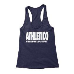 Athletico Befitlivefit Racerback Vest in Navy & White