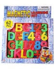 Educational Magnetic Alphabet Letters And Numbers - 62 Pieces